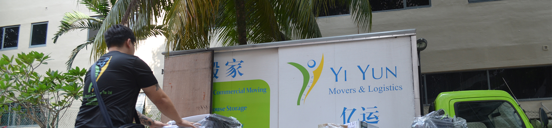 Yi Yun Movers and Logistics Crew and Lorry